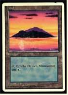 Karte Magic The Gathering  -  Land  -  Insel  -  Deutsch - Magic The Gathering