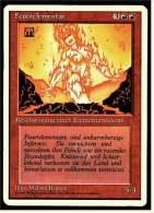 Karte Magic The Gathering  -  Beschwörung Eines Elementarwesens  -  Feuerelementar  -  Deutsch - Magic The Gathering