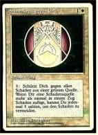 Karte Magic The Gathering  -  Verzauberung  -  Schutzkreis Gegen Grün  -  Deutsch - Magic The Gathering