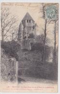 (RECTO / VERSO) PROVINS EN 1904 - N° 4188 - LA TOUR CESAR VUE DE LA TOUR DU LUXEMBOURG - Provins