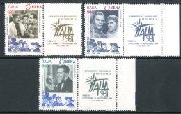 ITALIA / ITALY 1998** - Cinema - 3 Val. Con Appendice MNH Come Da Scansione. - Cinema