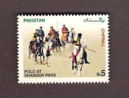 Pakistan 2006, Polo At Shandur Pass, Horses, Game Of Kings, Sports 1v MNH - Horses