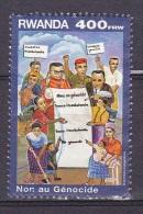 T] Timbres Oblitéré Cancelled Stamp NON Au Génocide / STOP Genocid - 400 F - 1999 - Rwanda