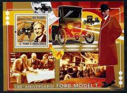 Lot 65 - B 17 - Ste Thomas Et Prince ** Bloc N° 431 - Cent. De La Voiture Ford Modèle T. Henry Ford - Sao Tome Et Principe