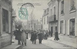 (PH2) NEW CPA 41 SAVIGNY-SUR-BRAYE *** CAFE DU RENARD ENTREE RUE DU CHAMP DE FOIRE DES CHEVAUX *** Top Carte Rare 1905 - France