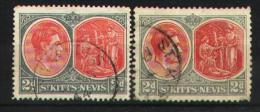 St Kitts-Nevis 1938-43 - 96 A-B Dentelure Differentes - St.Kitts-et-Nevis ( 1983-...)
