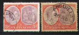 St Kitts-Nevis 1938-1943 - 98 A-B - St.Kitts-et-Nevis ( 1983-...)