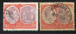 St Kitts-Nevis 1938-1943 - 98 A-B