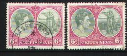St Kitts-Nevis 1938-1943 - 99 A X2 - St.Kitts-et-Nevis ( 1983-...)