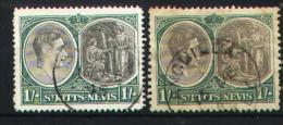 St Kitts-Nevis 1938-1943 - 100 A-B - St.Kitts-et-Nevis ( 1983-...)