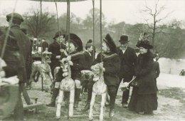 Postcard Children Roundabout Fair HAMPSTEAD HEATH London Nostalgia Repro - Children And Family Groups