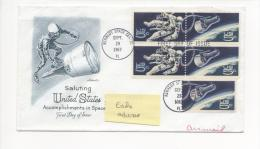 KENNEDY SPACE CENTER 29 Septembre 1967 Sur Enveloppe Illustrée Ayant Voyagé à Destination De La Côte D´Ivoire - United States