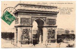 CP, 75, PARIS, L´ARC DE TRIOMPHE De L´ETOILE, Voyagé En 1911 - Arc De Triomphe