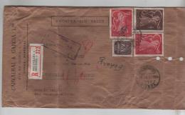 Portugal Amostra Sem Valor Air Mail With Belgian Registered Label Lisboa 1951 To Brussels Belgian Custom Label PR262 - Airmail