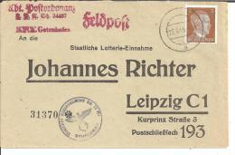 FPII047/ Frankierte Feldpost Von Gotenhafen Als Drucksache Mit Tarnstempel Entwertet 1943 - Allemagne