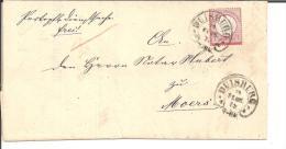 Brs036/ Mi.Nr. 4 Mit Hufeisen Duisburg 19.2.72und 2. Abschlag