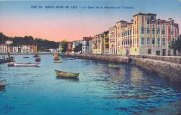 Parfait SAINT JEAN DE LUZ Le Quai Et La Maison De L'infante Le Port Vers 1935 Non Circulée ADIA Nice - Saint Jean De Luz