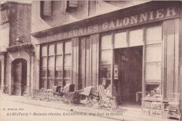 CPA 81 @ ALBI @ Maisons Réunies Galonnier Rue Seré De Rivière @ Landeau Poussette Magasin - Albi