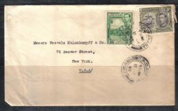 BOL1492 - GRENADA , Giorgio VI Lettera Per Gli USA . Un Valore Fortemente Difettoso - Grenada (...-1974)