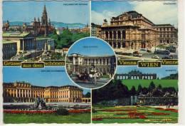 Grüsse Aus Dem Schönen WIEN / VIENNA / VIENNE  -  Mehrbildkarte - Wien