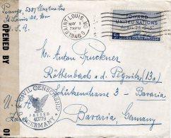 ETATS UNIS LETTRE CENSUREE POUR L'ALLEMAGNE 1946 - Covers & Documents