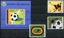 1401 - FUSSBALL-WM 1974 WORLD FOOTBALL CH´SHIPS - PARAGUAY - 2583-2585, Block 225, Postfrisch - Coppa Del Mondo