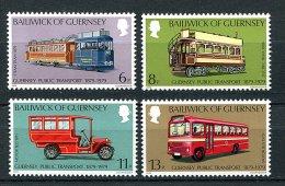 Lot 110 - B 17 - Guernesey ** N° 186 à 189 - Cent. Des Trasports Publics - Guernsey