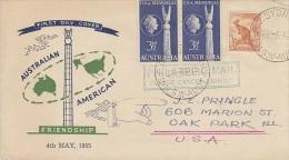 Australia-1955 USA Friendship FDC Sent To USA - FDC