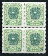 1415 - ÖSTERREICH / AUSTRIA - Mi.Nr. 316 Xc, Postfrischer Viererblock - 1918-1945 1. Republik