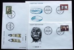 Greenland 1988  Old Utensils (III)  / De Vieux Ustensiles   MiNr.186-88 FDC ( Lot Ks)   FOGHS COVER - FDC