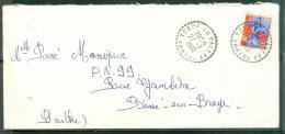 Lettre Oblitéré Cad Bureau De Distributin De Torce En Vallée ( Sarthe ) En 1960 - Am9001 - 1921-1960: Periodo Moderno
