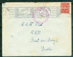 Timbre Fm Oblitéré  Brest Ppal - Finistère  - Brest / Cité Maritime / Centre De Tourisme  - En 1956 - Am9058 - Marcophilie (Lettres)