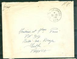 """Oblitération Cachet à Date """" Poste Aux Armées A.F.N.  """" En 1958  - Am9060 - Marcophilie (Lettres)"""