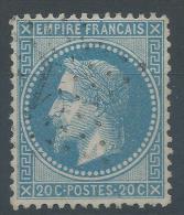 Lot N°22615  Variété/n°29, Oblit étoile Chiffrées 1 De PARIS (Pl De La Bourse), Tache Bleu Sur 2 De 20C - 1863-1870 Napoleon III With Laurels