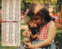 ALMANACH DES P T T ) 1979     GERS  (32)       PHOTOS ENFANTS AVEC ANIMAUX  BON ETAT - Calendriers
