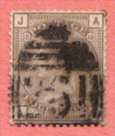 GBR SC #84 U PLT#18 1880  Q Victoria W/2 Lt. Cnr Crs @ UR, CV $67.50 - 1840-1901 (Victoria)