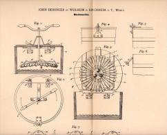 Original Patentschrift - J. Deininger In Weilheim A.d. Teck , 1898 , Waschmaschine , Kirchheim , Wäscherei , Wäsche !!! - Maschinen