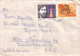 Polen/ Poland - Umschlag Echt Gelaufen / Cover Used (s451) - Briefe U. Dokumente