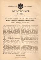 Original Patentschrift - Chr. Reising & Söhne In Waltershausen , 1898 , Dachziegel - Presse , Dachdecker , Dach  !!! - Maschinen