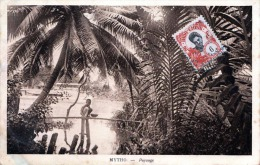 Indo China Vietnam MYTHO - Paysage, Verlag Nadal Saigon Mytho, Karte Gelaufen Um 1920, Schöne 6C Frankierung - Vietnam