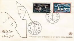 Griechenland, FDC-Brief Weltflüchtlingsjahr 1959-60, Schöne Frankierung, 2 Sonderstempel - FDC