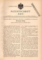 Original Patentschrift - W. Greaves In Cradock , 1896 , Südafrika , Kehrpflug , Pflug , Landwirtschaft , Agrar , Afrika - Maschinen