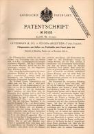 Original Patentschrift - Gütermann & Co In Perosa Argentina , 1896 , Macchine Per La Filatura, Filatoio , Turin , Italia - Macchine