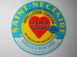 TSN71 / étiquette De Fromage SAINT-NECTAIRE - LE COEUR AUVERGNAT - TRAPENARD à AUBIERE - 63 - Kaas