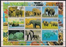 MADAGASCAR, AÑO 1999, ANIMALES DEL MUNDO, FAUNA , ELEFANTES - Elefantes