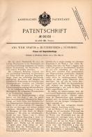 Original Patentschrift - J. Spaeth In Dutzendteich B. Nürnberg , 1897 , Presse Mit Doppelzahnstange !!! - Maschinen