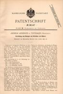 Original Patentschrift - A. Andersen In Tistedalen , Norway , 1897 , Maschine Zum Entrinden Von Holz , Forst !!! - Maschinen