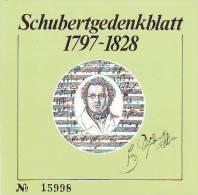 0815h: Austria Franz Schubert- Gedenkblatt, Limited Edition - Musik