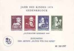 """0815i: Austria """"Child' S Year""""- Gedenkblatt, Reprint Glückliche Kindheit, Limited Edition - Enfance & Jeunesse"""