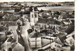 CPSM - EN AVION AU DESSUS DE... THURY - VUE AERIENNE - L'Église  -LAPIE - Circulée - - France